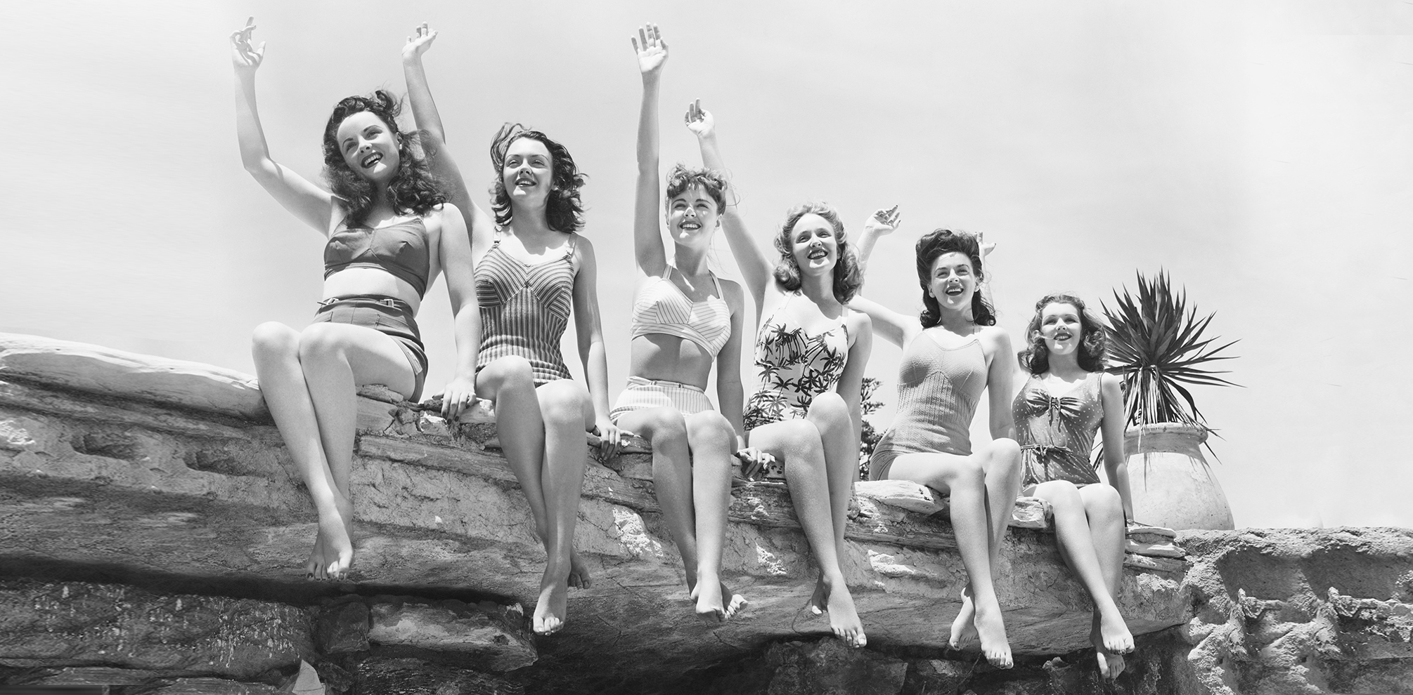 vintage photograph of models