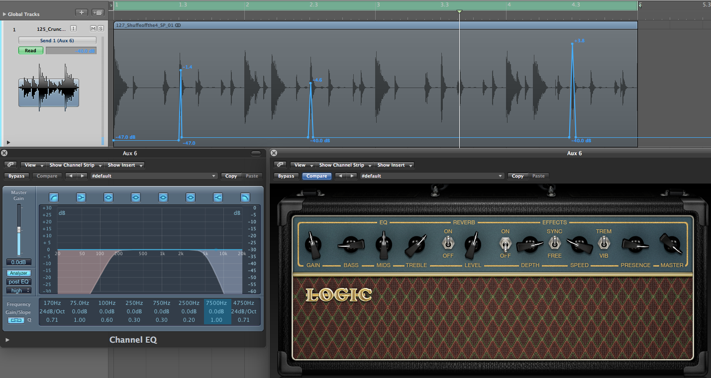 Spring reverb with Logic Amp Creator
